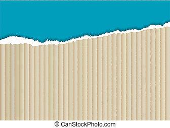 Cardboard torn edge - corrugated cardboard background with...