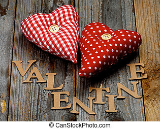 Valentine - Cardboard Word Valentine and Two Handmade...