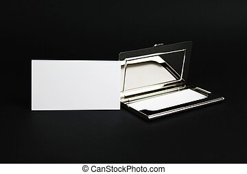 cardholder with their card