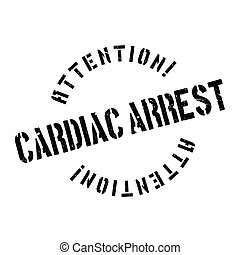 Cardiac Arrest rubber stamp. Grunge design with dust ...