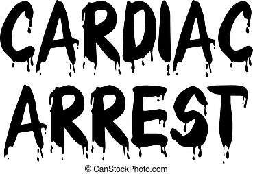 CARDIAC ARREST stamp on white background. Stickers labels ...