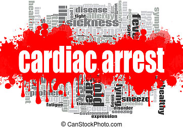 Cardiac arrest word cloud design. Creative illustration of ...