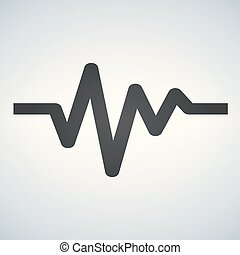Cardiac cycle flat icon. Sign Heart beat cardiogram. Vector logo for web design, mobile and infographics. Vector illustration