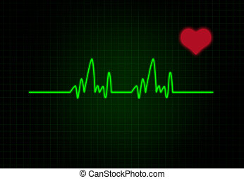 cardiaco, cuore, frequenza, forma.