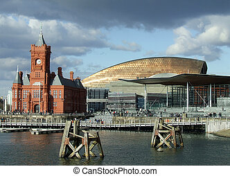 Cardiff Bay including the Pierhead Building