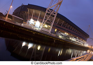 Outside view of the Millennium Stadium in Cardiff