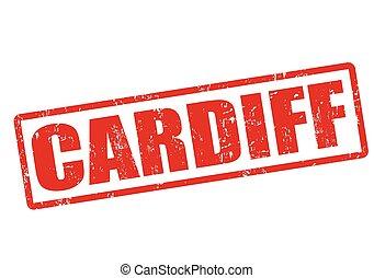 Cardiff grunge rubber stamp on white, vector illustration