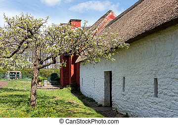 CARDIFF/UK - APRIL 19 : Kennixton Farmhouse at St Fagans National History Museum in Cardiff on April 19, 2015