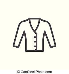 Cardigan line icon
