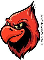 Cardinal bird cartoon mascot design