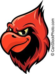 Cardinal bird cartoon mascot design