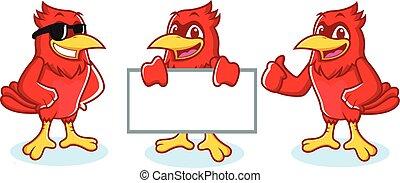 Cardinal Mascot happy
