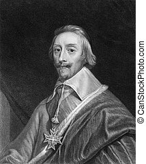 Cardinal Richelieu (1585-1642) on engraving from the 1800s....