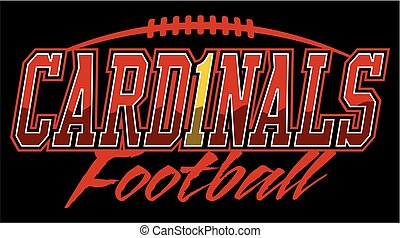 cardinals football team design with laces for school,...