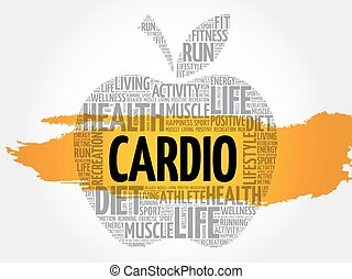 Cardio apple word cloud