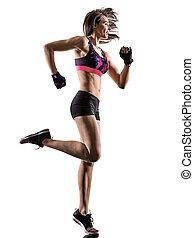 cardio boxing cross core workout fitness exercise aerobics woman