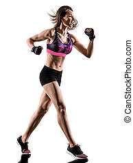 cardio boxing cross core workout fitness exercise aerobics woman