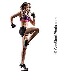 cardio boxing workout fitness exercise aerobics woman