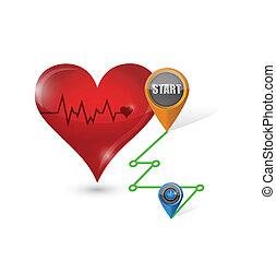cardio destination exercise concept illustration