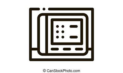 cardio electronic device Icon Animation. black cardio electronic device animated icon on white background