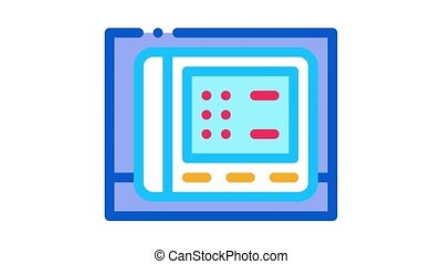 cardio electronic device Icon Animation. color cardio electronic device animated icon on white background
