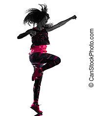 cardio, freigestellt, tänzer, tanzen, hintergrund, fitness, ...