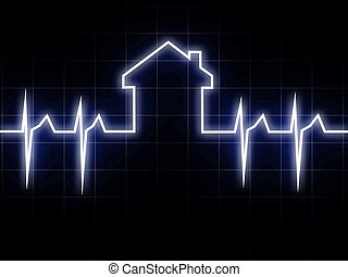 CARDIO HOUSE - fine 3d image of abstract cardio house...
