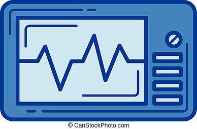 Cardio monitor line icon.