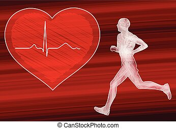 cardio training in heart disease prevention concept