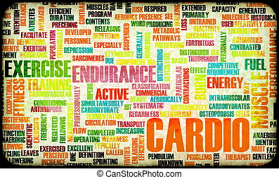 Cardio Workout or High Intensity Fitness Concept