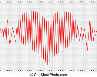 Cardiogram - Abstract heart cardiogram