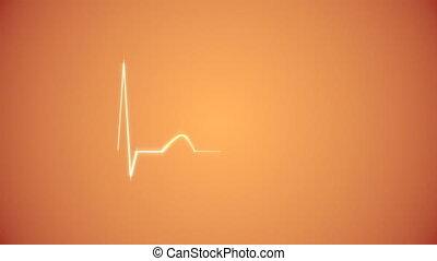 Cardiogram Background in Orange.