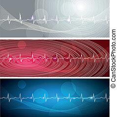 Cardiogram banners