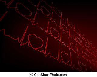 Cardiogram EKG. EPS 8