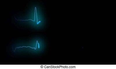 cardiogram healthy heart and cardiogram sick heart