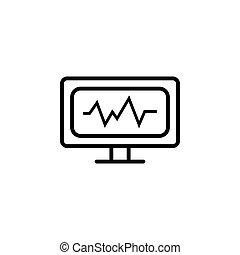 cardiogram icon. vector illustration black on white background