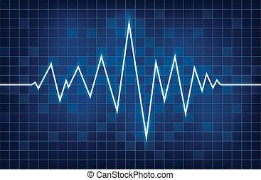 Cardiogram - Vector illustration of a cardiogram.