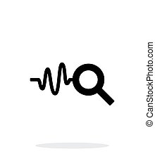 Cardiogram monitoring icon on white background. Vector...