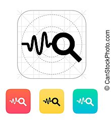Cardiogram monitoring icon. Vector illustration.