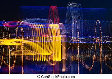 Cardiogram of night city - Colorful cardiogram of night city...