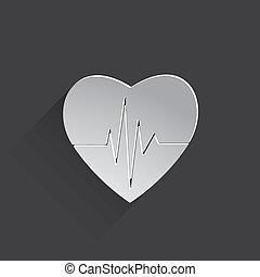 cardiogram or heart rhythm