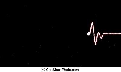 Cardiogram - Realistic indicators of human heartbeat.