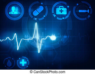 cardiogram wave medical background