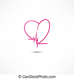 cardiograma, icono