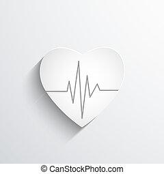 cardiogramma, o, ritmo, cuore