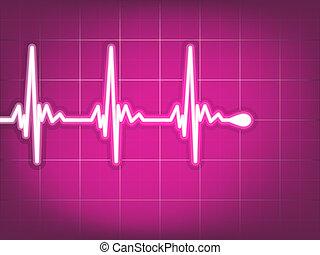 cardiogramme, ekg., eps, 8