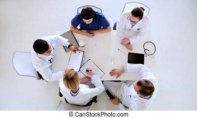 cardiogramme, hôpital, groupe, médecins