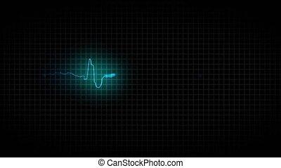 cardiogramme, malade, coeur