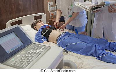 Cardiograph Sensors Hospital Patient