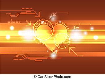 cardiographe, concept, technologie